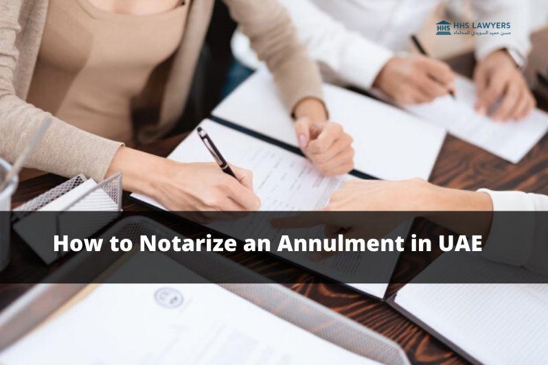 Notarize an Annulment