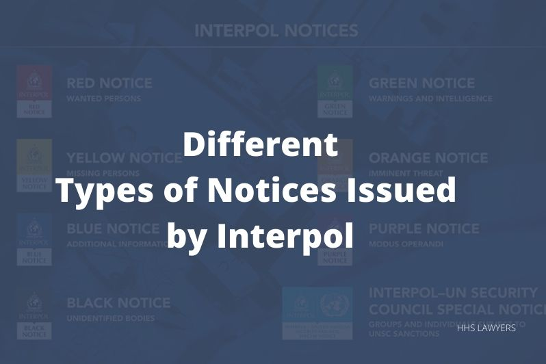 types of notices issued by Interpol