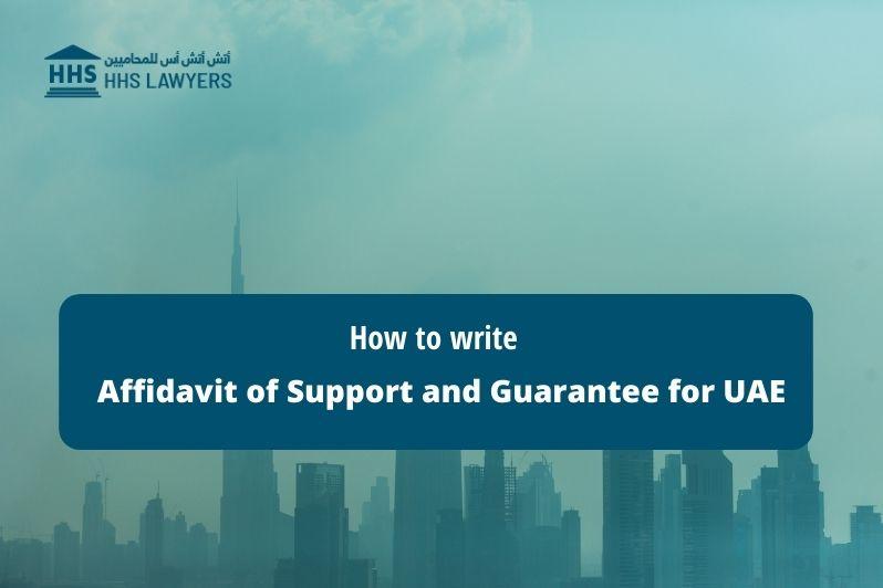 Write Affidavit of Support and Guarantee